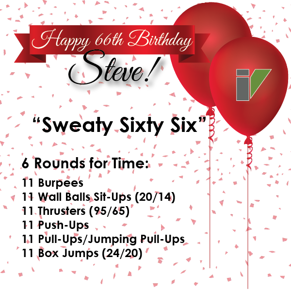 "CFIV - ""Sweaty Sixty Six"" - Happy 66th Birthday Steve!"