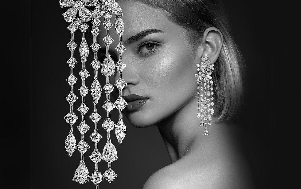 Haute Joaillerie, Boucles d'oreilles pluie de diamants