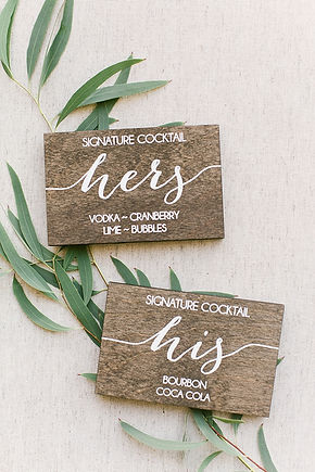Signature Cocktail Signs