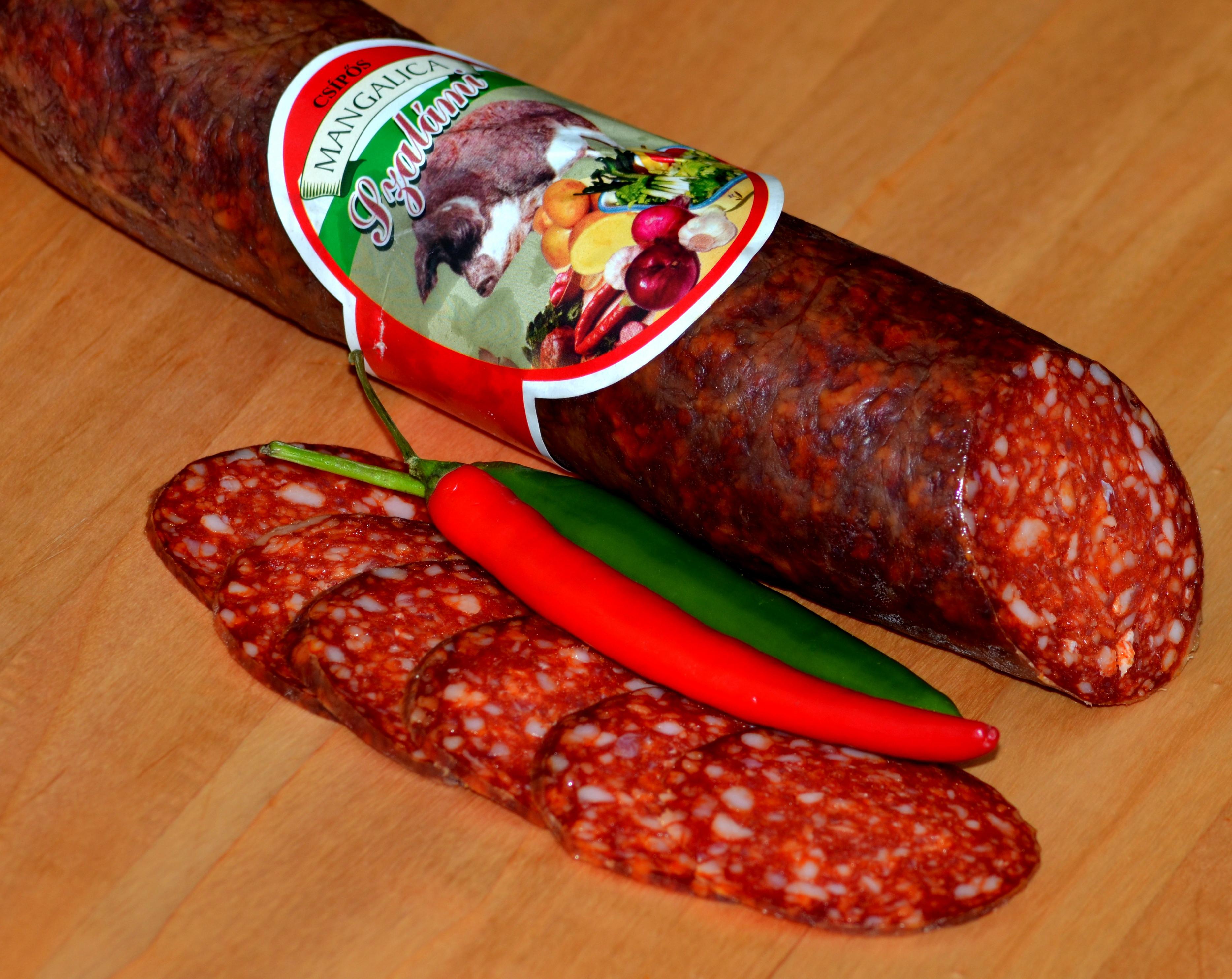 Salami z mangalicy Kövér