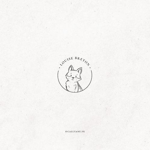 Renardeau - Tampon Ex Libris Enfant