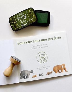Marmotte - Tampon Ex Libris Enfant
