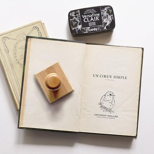 Rouge Gorge sur Branche - Tampon Ex Libris