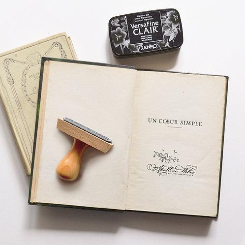 Calli & Oiseau - Tampon Ex Libris