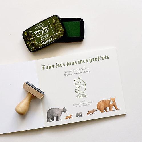 Chat - Tampon Ex Libris Enfant
