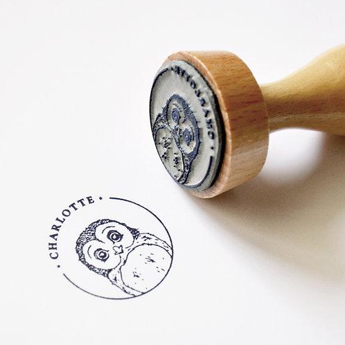 Chouette - Tampon Ex Libris Enfant