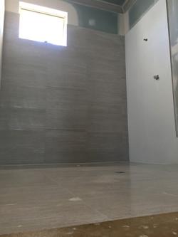 Upper Floor Wet Area Tiling Complete