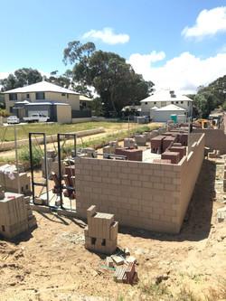 Brickwork underway