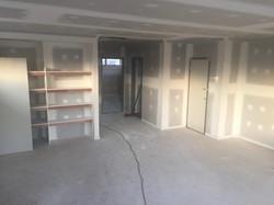 Upper Floor Plasterboard Complete.