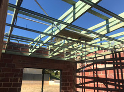 Skillion Roof Trusses Completed
