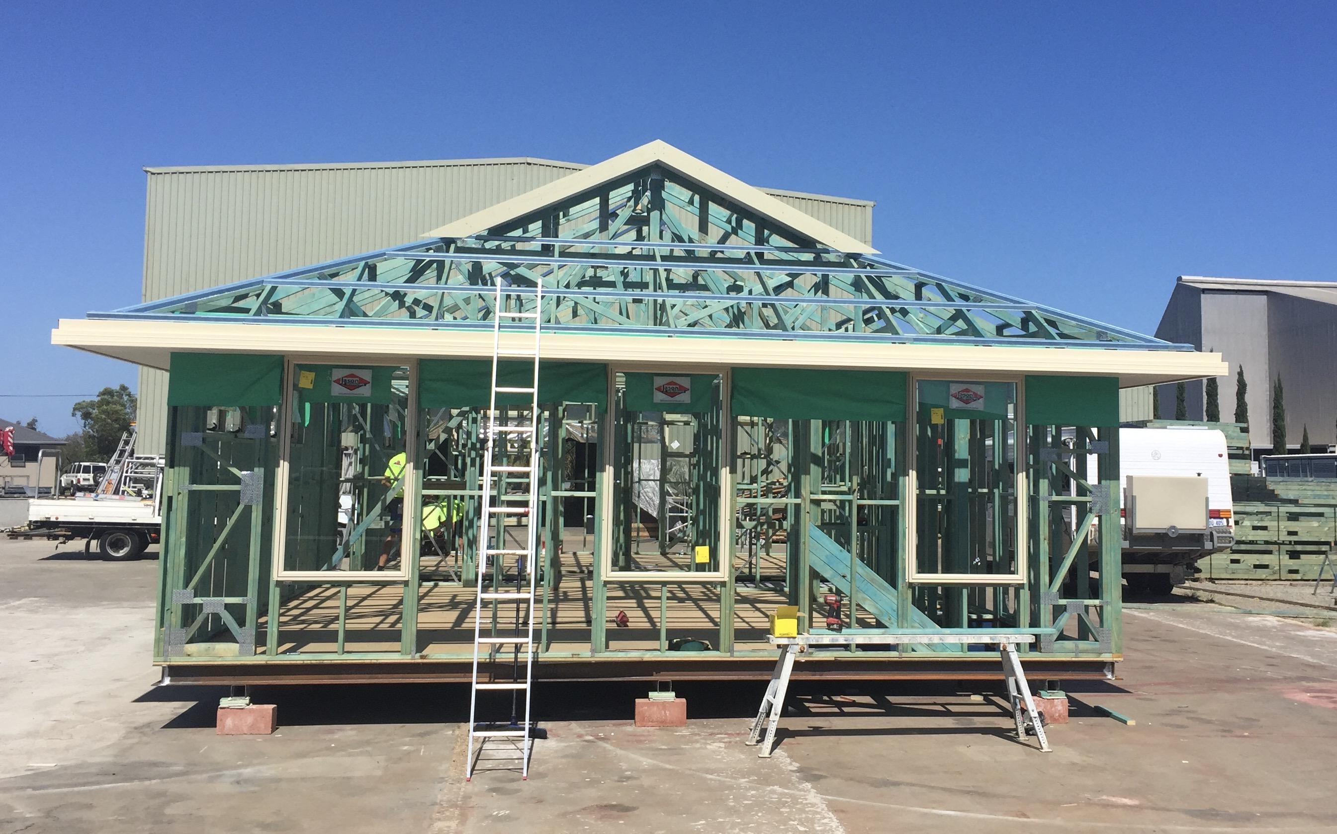 Upper Floor Roof Frame Complete.1