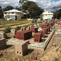 Bricks and Loaded to site and Drains