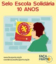 Colégio Guilherme de Almeida Cartaz Selo Escola Solidária