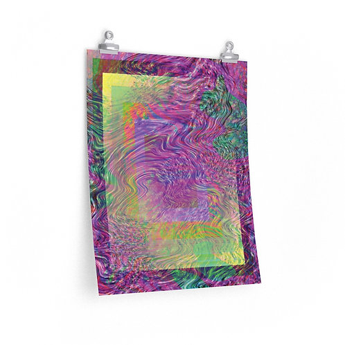 swirly square poster