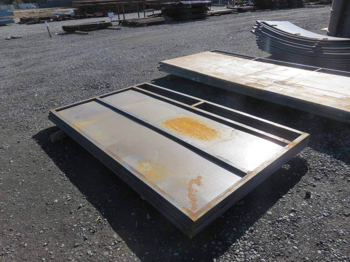 """CattleFlow Tub Panel 5' X 8'6"""", Plated"""