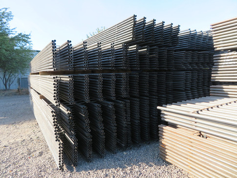 """1.25"""" Continuous Fence Panels 6 Rail, 9"""" Spacing"""