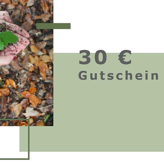 Gutschein für 30€