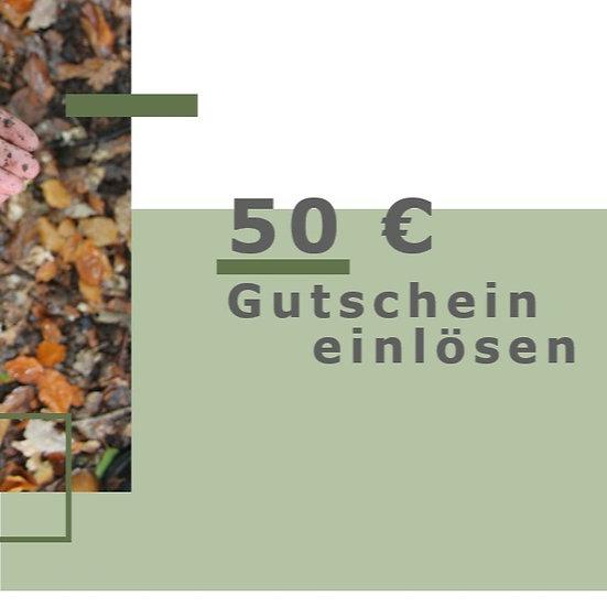 50 € Gutschein einlösen