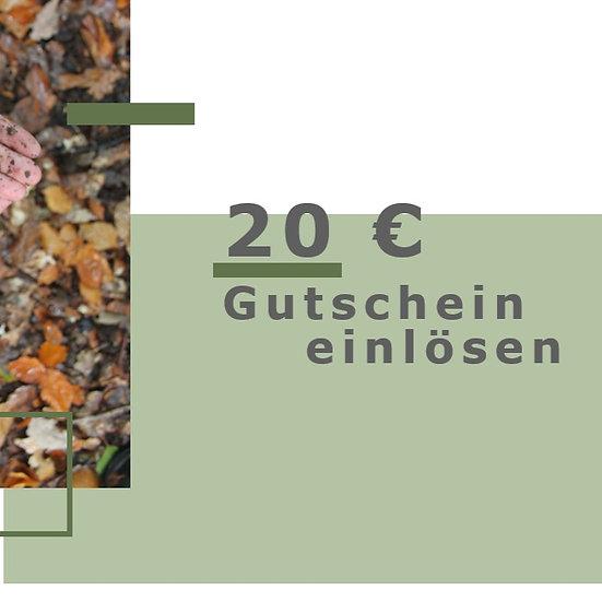 20 € Gutschein einlösen