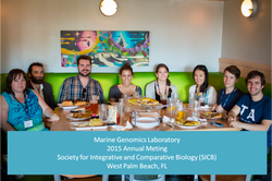 Marine Genomics at SICB 2015