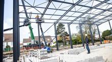 Avancement du chantier du palais des sports de Berck-sur-Mer :