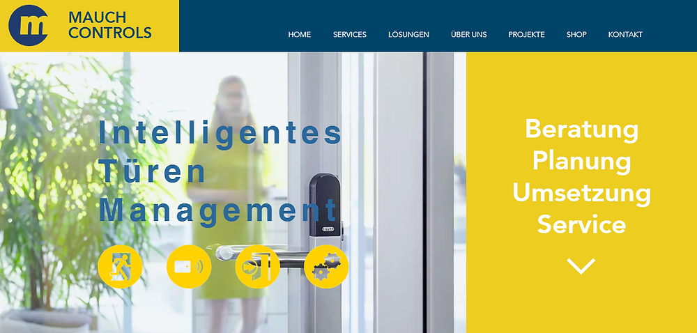 Neue Website Mauch Controls - intelligentes Türen Management