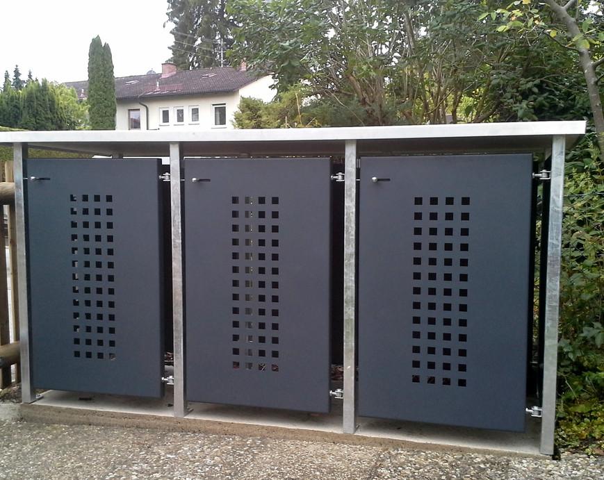 Müllbox_,_Grundgestell_Stahl_verzinkt,_