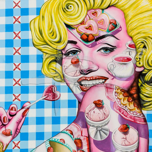 Marilyn Monroe Pop Art Painting - Strawberries Forever