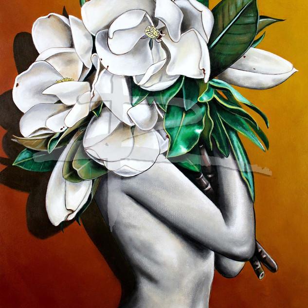 White Magnolias Ltd Ed Fine Art Print