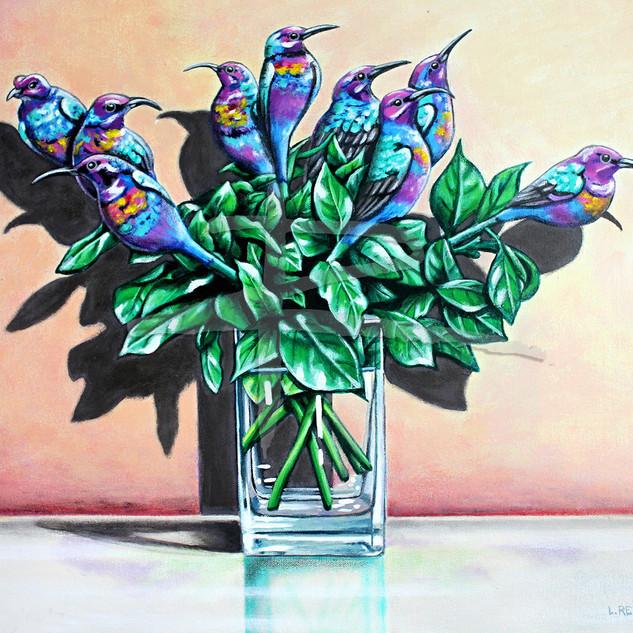 Long Stemmed Sunbirds Ltd Ed Fine Art Print