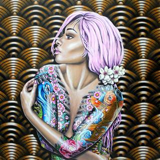 Cherry Bomb Ltd Ed Print on Canvas