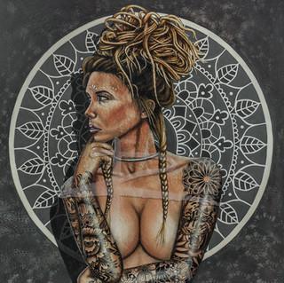 Nude Canvas Acrylic Painting - Bomb de Boheme