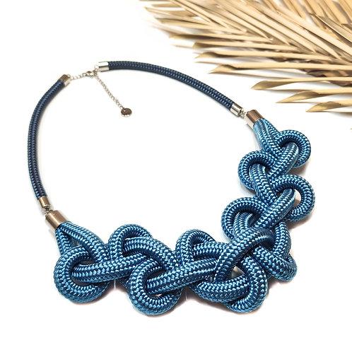 Minea nyaklánc - acélkék