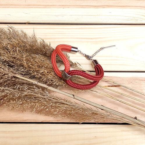Elara kötél karkötő - terrakotta/vörös