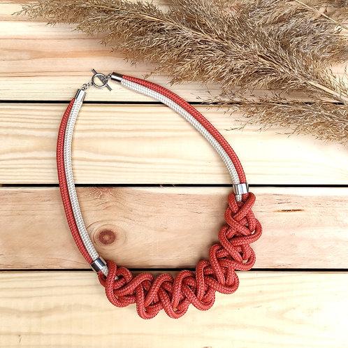 Ayla kötél nyaklánc - vörös