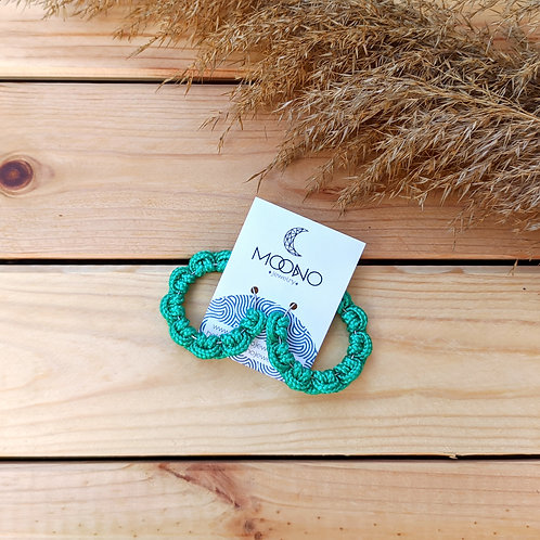 Flower 2. fülbevaló - smaragdzöld