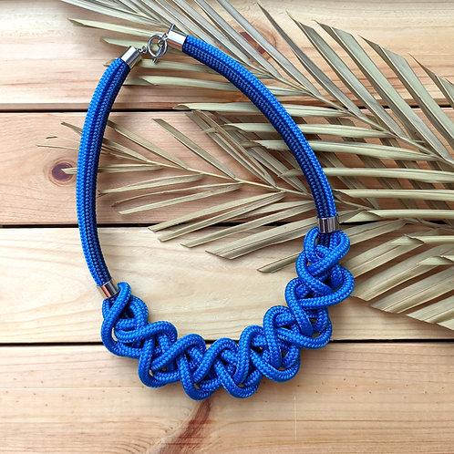 Ayla kötél nyaklánc - középkék