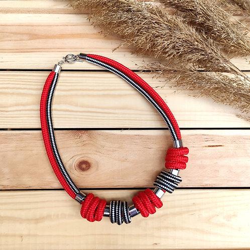 Enola kötél nyaklánc - piros