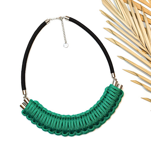 Kaya nyaklánc - smaragdzöld
