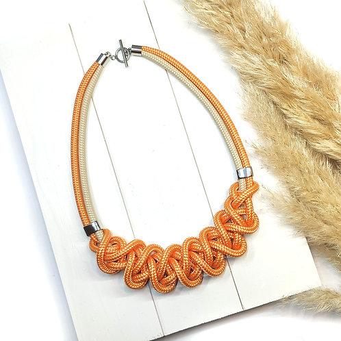 Ayla kötél nyaklánc - világos narancs