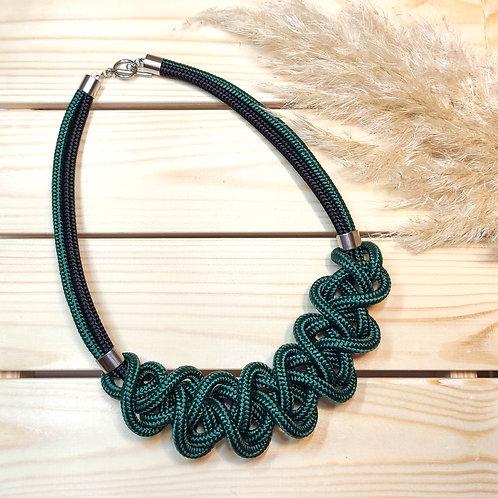 Ayla nyaklánc - sötétzöld