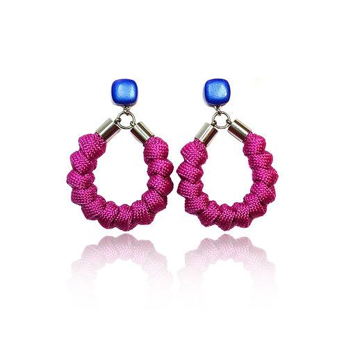 Soleil fülbevaló - pink