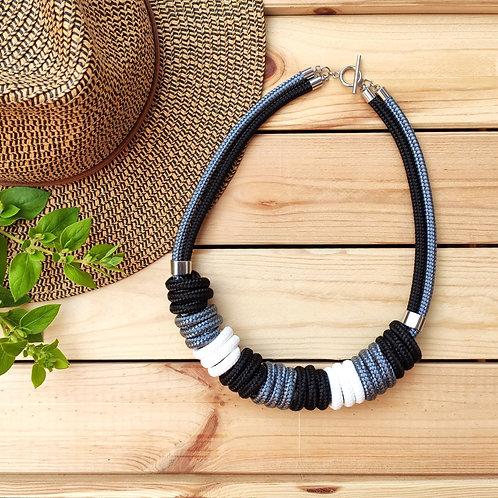 Nara kötél nyaklánc - fekete
