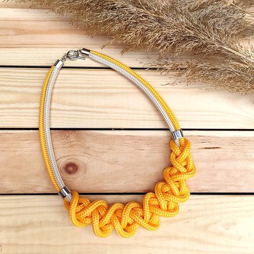 Ayla kötél nyaklánc - napraforgó sárga