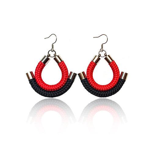 Shanna fülbevaló - piros/ fekete