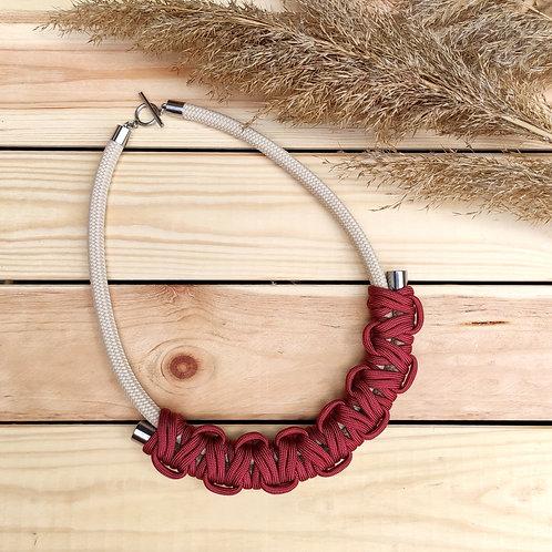 Hania kötél nyaklánc - sötét rézvörös
