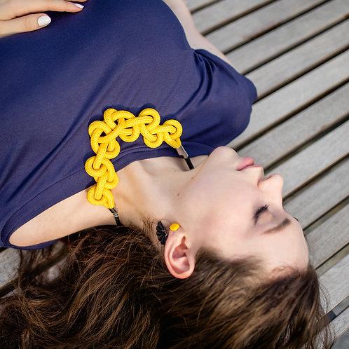 Minea nyaklánc - napsárga