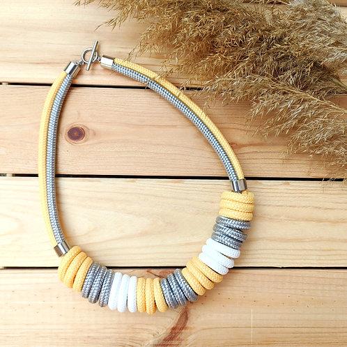 Nara kötél nyaklánc - pasztell citrom