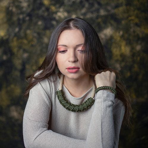 Neoma nyaklánc - khaki zöld