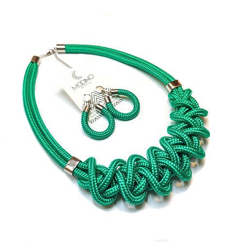 Ayla nyaklánc - smaragdzöld
